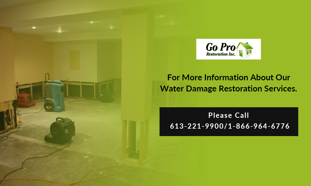 contact for water damage restoration service